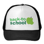 back to school with green apple trucker hat