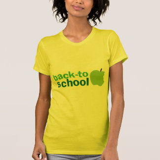 back to school with green apple shirt