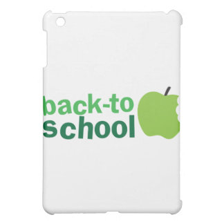 back to school with green  iPad mini cover