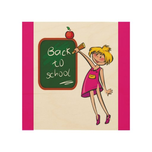 Back to school wood wall art zazzle for Back to school wall decoration