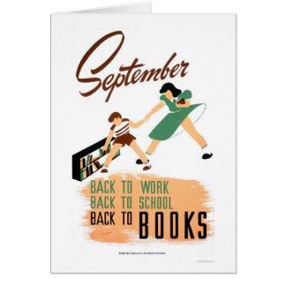 Back To School Work 1940 WPA Card