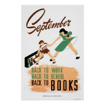 Back To School Work 1940 WPA Poster