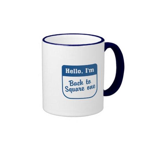 Back to square one coffee mug