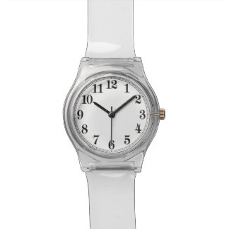 Back To The 70's Clear Lucite Retro Watch! Wristwatches