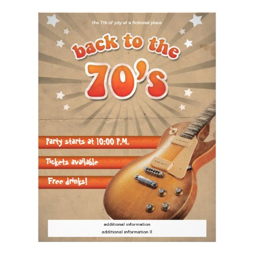 Back to the 70's flyer - fully customizable