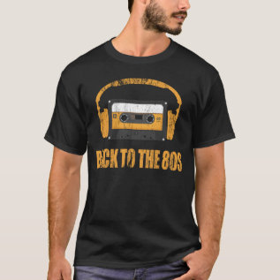 Back To The 80s Music T-shirt at Zazzle