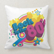 Back To The 80's Retro 80's Throw Pillow