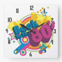 Back To The 80's Retro 80's Wall Clock