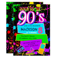 Back to the 90s party invitation