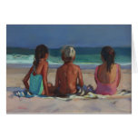 'Back to the Beach' - children enjoying the beach Greeting Cards
