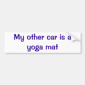 Back to the Beginning Yoga Mat Bumper Sticker Car Bumper Sticker