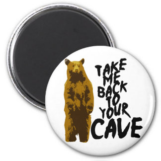 back to the cave 2 inch round magnet