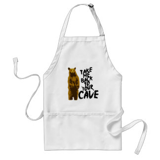 back to the cave adult apron
