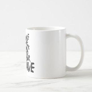 back to the cave coffee mug