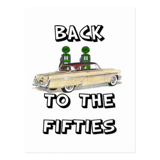 Back To The Fifties Vintage T-shirts and Gifts Postcard