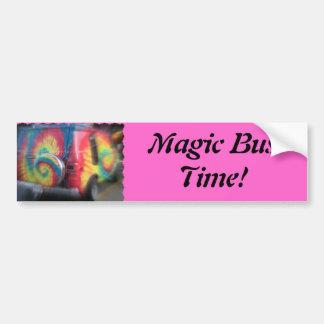 Back to the future!  Wild hippie bus! Bumper Sticker
