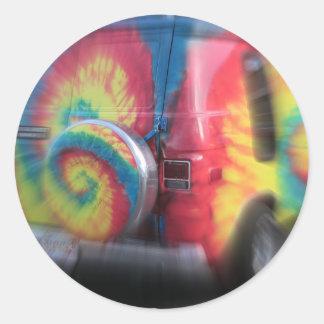Back to the future!  Wild hippie bus! Classic Round Sticker
