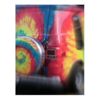 Back to the future!  Wild hippie bus! Postcard