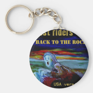 back to the rock USA cover tshirt1 Basic Round Button Keychain