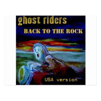 back to the rock USA cover tshirt1 Postcard