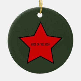 back to the ussa ceramic ornament