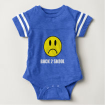 Back Two School Sad Baby Bodysuit