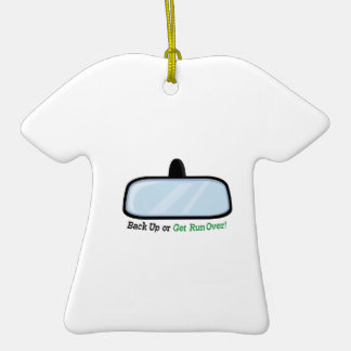 Back Up Double-Sided T-Shirt Ceramic Christmas Ornament
