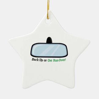 Back Up Double-Sided Star Ceramic Christmas Ornament