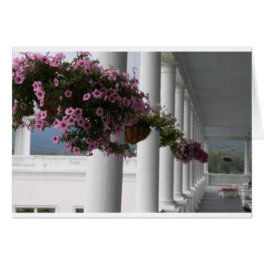 Back Veranda, Mt. Washington Hotel, Bretton Woods, Card