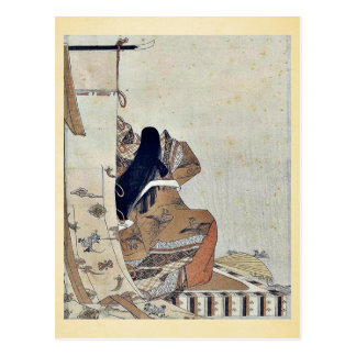 Back view of a noblewoman by Hosoda, Eishi Ukiyoe Post Cards