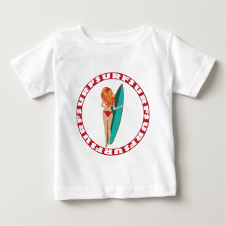 Back View of a Surfer Girl Baby T-Shirt