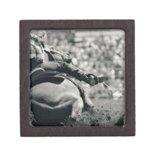 Back view of barreling racing premium gift box
