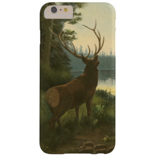 Back view of Elk Looking over a Lake Barely There iPhone 6 Plus Case