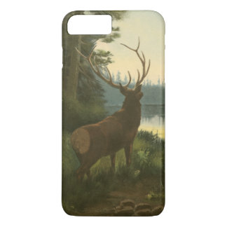 Back view of Elk Looking over a Lake iPhone 7 Plus Case