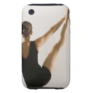 Back view of flexible gymnast iPhone 3 tough cover
