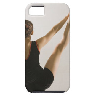 Back view of flexible gymnast iPhone SE/5/5s case