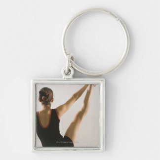 Back view of flexible gymnast keychains