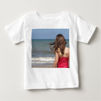 Back view of toddler at a Florida beach Baby T-Shirt