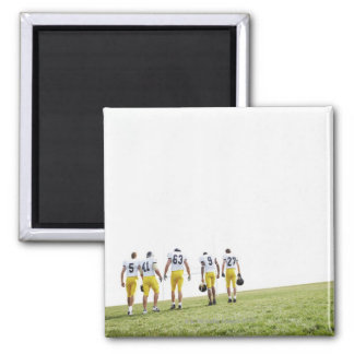Back view portrait of rugby team refrigerator magnet