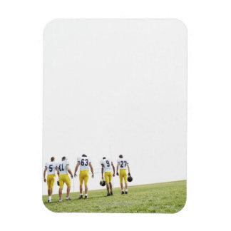 Back view portrait of rugby team vinyl magnet