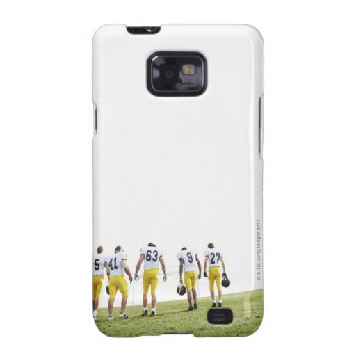 Back view portrait of rugby team samsung galaxy SII cases