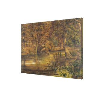 Back Water of the Bratford, 1864 (w/c and pencil o Gallery Wrapped Canvas