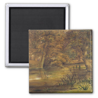 Back Water of the Bratford, 1864 (w/c and pencil o Magnet