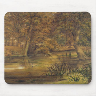 Back Water of the Bratford, 1864 (w/c and pencil o Mouse Pad