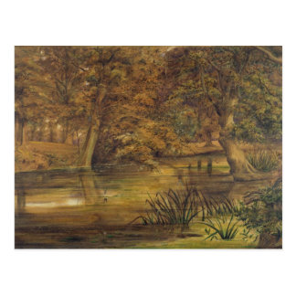 Back Water of the Bratford, 1864 (w/c and pencil o Postcard