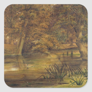Back Water of the Bratford, 1864 (w/c and pencil o Square Sticker