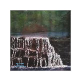 BACK WATERFALL WOLF PEN MILL  WRAPPED CANVAS PRINT