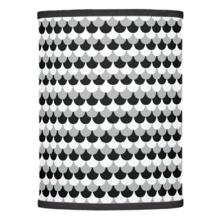 Back, White, and Gray Gumdrop Design Lamp Shade