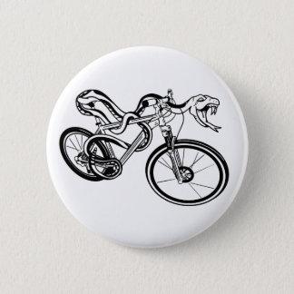 Back White and Mountain Biking Snake Pinback Button