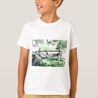 BACK YARD BUDDIES #2 CHILDREN WITH DEER T-Shirt
